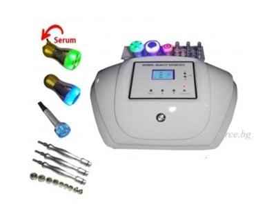 Комбиниран уред за диамантено микродермабразио, радиочестотен лифтинг, безиглена мезотерапия и криотерапия