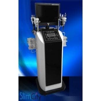 Комбиниран уред за кислородна мезотерапия, водно дермабразио, кожен детектор, криотерапия и радиочестотен лифтинг