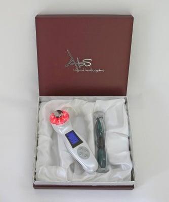 Козметичен уред с ултразвук, галваничен ток и LED светлина (червен, син и зелен спектър)