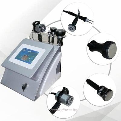 Козметичен уред за ултразвукова кавитация и радиочестотен лифтинг с цветен touch screen