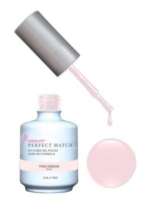 Комплект Perfect Match (Гел лак 15ml + лак за нокти 15ml) цвят PINK RIBBON