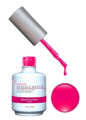 Комплект Perfect Match (Гел лак 15ml + лак за нокти 15ml) цвят PRIVATE ESCORT