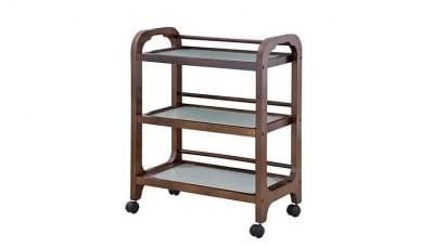 Козметична дървена количка за